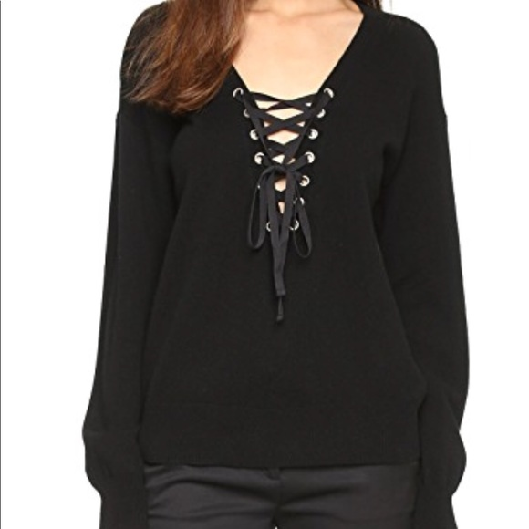 1a1483e5be The Kooples Lace Up Sweater. M 5aa45d3ca825a6a5478ba905
